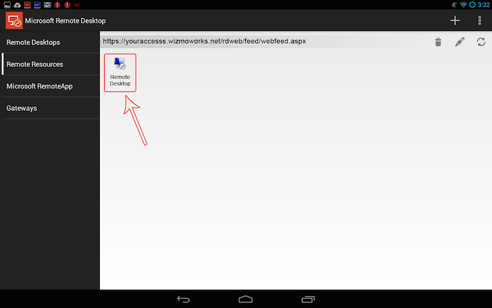 Setting Up Access From Android Mobile Device
