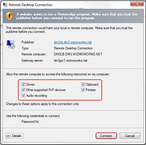 Setting Up Access and Signing In From Windows OS
